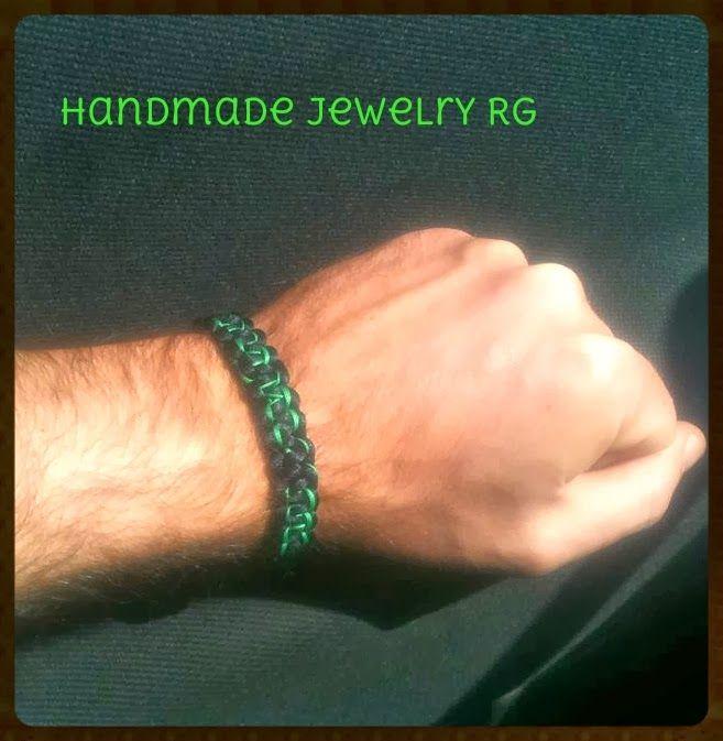 Handmade Jewelry Rg: Men's Macrame Bracelet