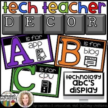 You can have an adorable and stylish classroom while still maintaining a highly academic environment! This set of Technology Themed Alphabet posters is colorful and creative so you can decorate your computer lab, media center, or classroom.