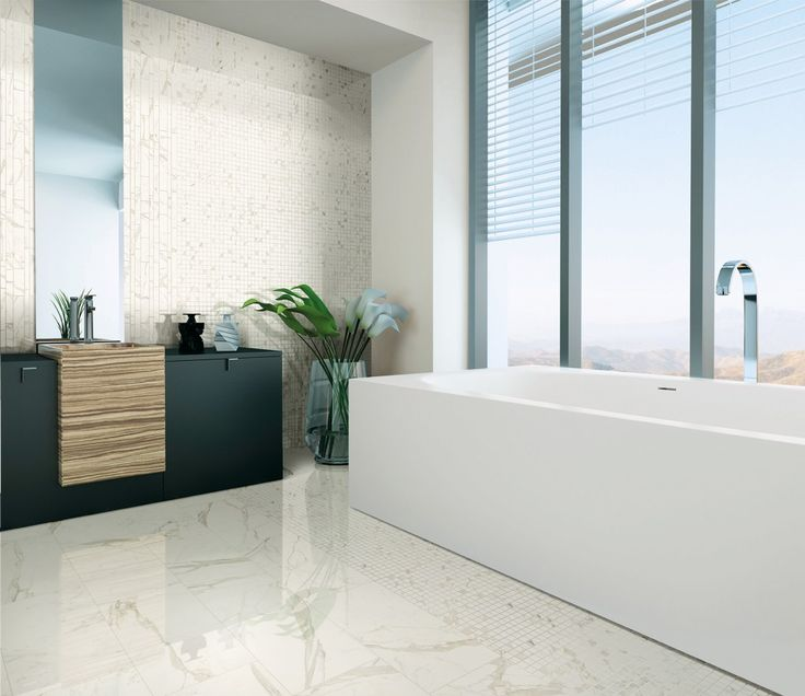 a white veined marble tile this porcelain option includes statuario carrara and calacatta