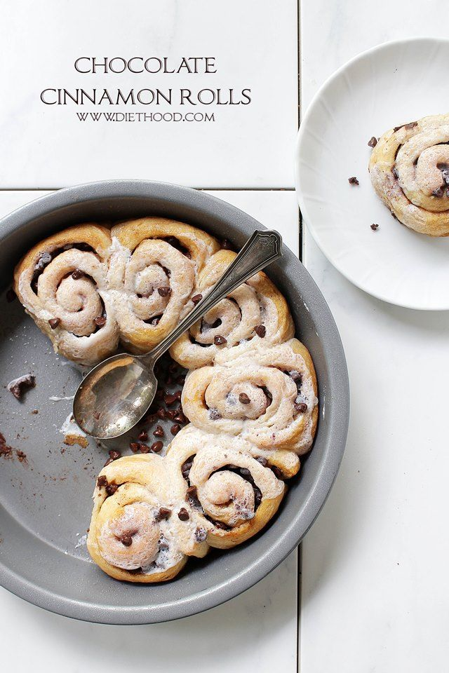 Quick and easy Chocolate Cinnamon Rolls made with refrigerated dough, chocolate chips, and cinnamon.