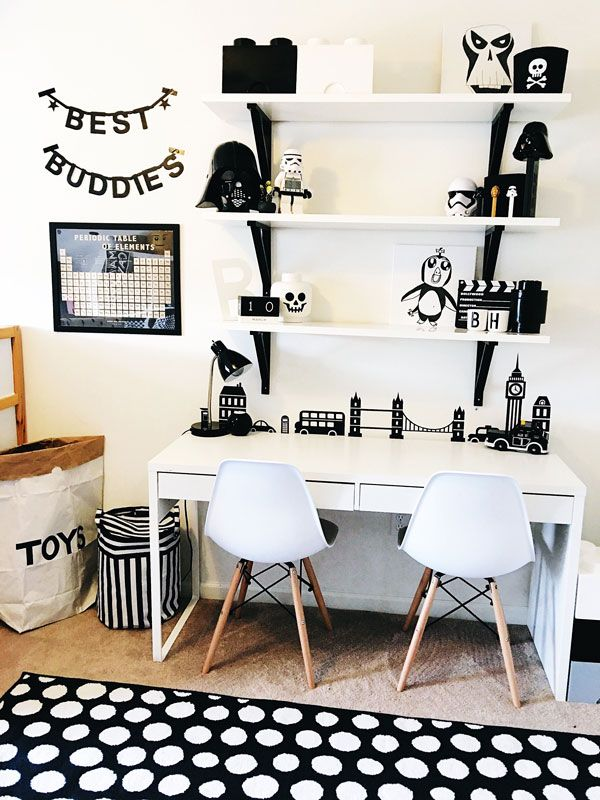 Black And White Boy S Room Inspiration Kids Room Organization Diy Room Organization Bedroom White Kids Room