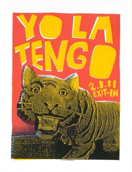 Yo La Tengo by Print Mafia ( print / screen print / silk screen / tiger / concert poster / gig poster / indie poster / band )