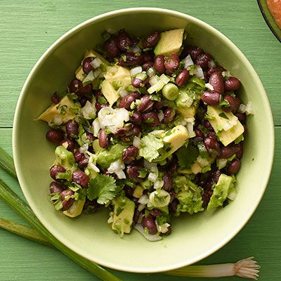 This chunky salsa is packed with flavor, but the creamy avocado balances its heat.
