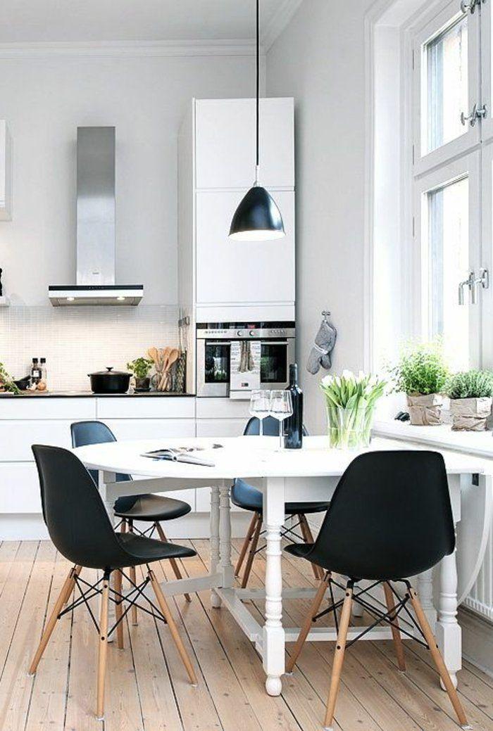 les cuisines blanches, comment les bien choisir, quel revetement de sol poser dans la cuisine