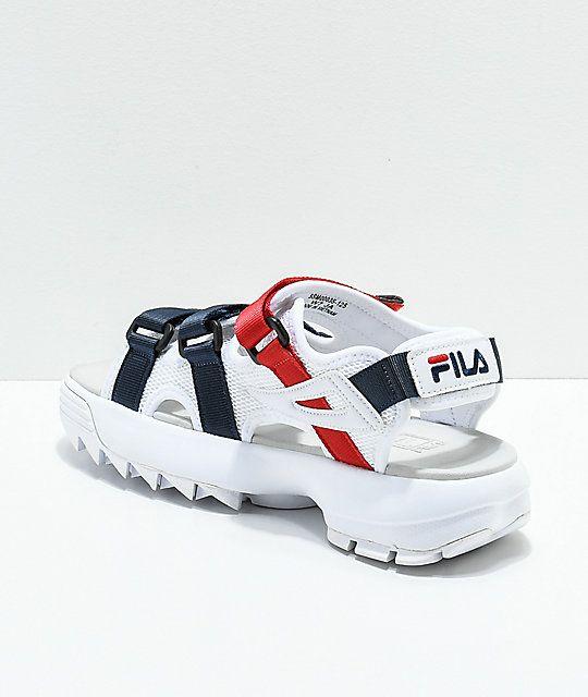 df9ef3424f FILA Disruptor White Platform Sandal in 2019 | Shoes of desire ...