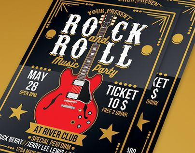 """Check out new work on my @Behance portfolio: """"Rock and Roll Music Party"""" http://be.net/gallery/40184079/Rock-and-Roll-Music-Party"""