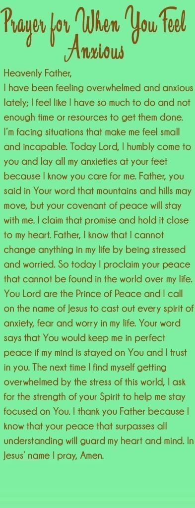 Prayer for When You Feel Anxious