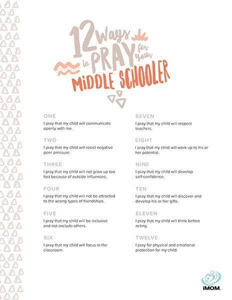 12 Ways to Pray for Your Middle Schooler - iMom