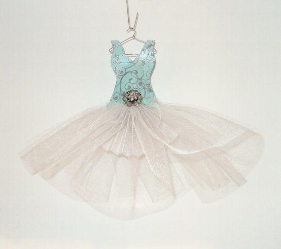 Paper dress turquoise swirl tutu decoration paper for Paper swirl decorations