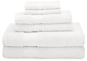 1888 Mills Naked Brand 6-Piece Bath Set with 2 Bath Towels - White - Visit to see more options