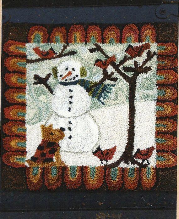 Primitive Folk Art Punch Needle Pattern MAN'S by PrimFolkArtShop, $14.75