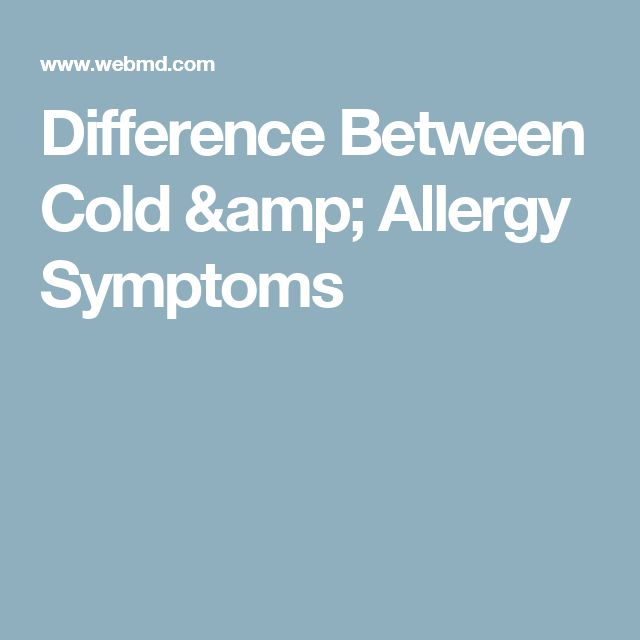 Difference Between Cold & Allergy Symptoms