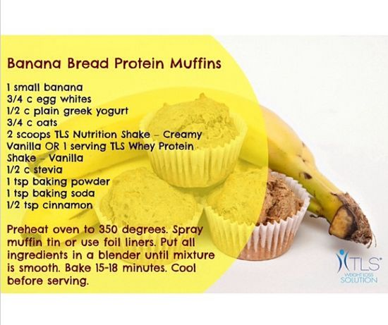 Use your TLS Shake mix to make yummy Banana Bread Protein Muffins!