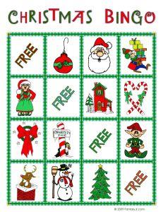 Christmas Bingo and other printable bingo games - print later