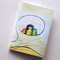 Gombafonálon hintázó sünik füzet #design #művészet #füzet