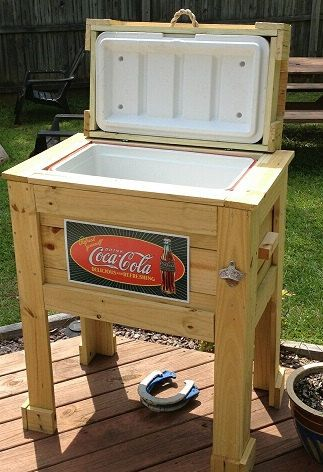 Outdoor Patio Cooler by BrinkBurgeDesigns on Etsy, $200.00
