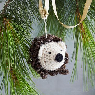 Knit Animal Ornament - Hedgehog #westelm for little duncan ...