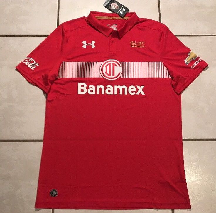 NWT UNDER ARMOUR Deportivo Toluca FC 2016/2017 Jersey Men's XL  | eBay