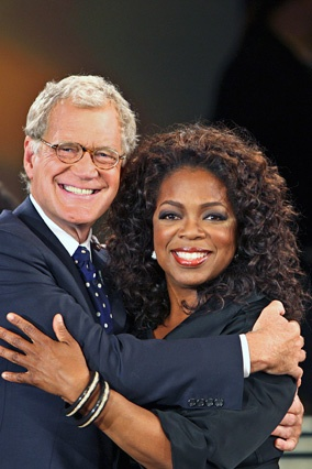 2007 - David Letterman's six-year campaign to be on the show pays off.