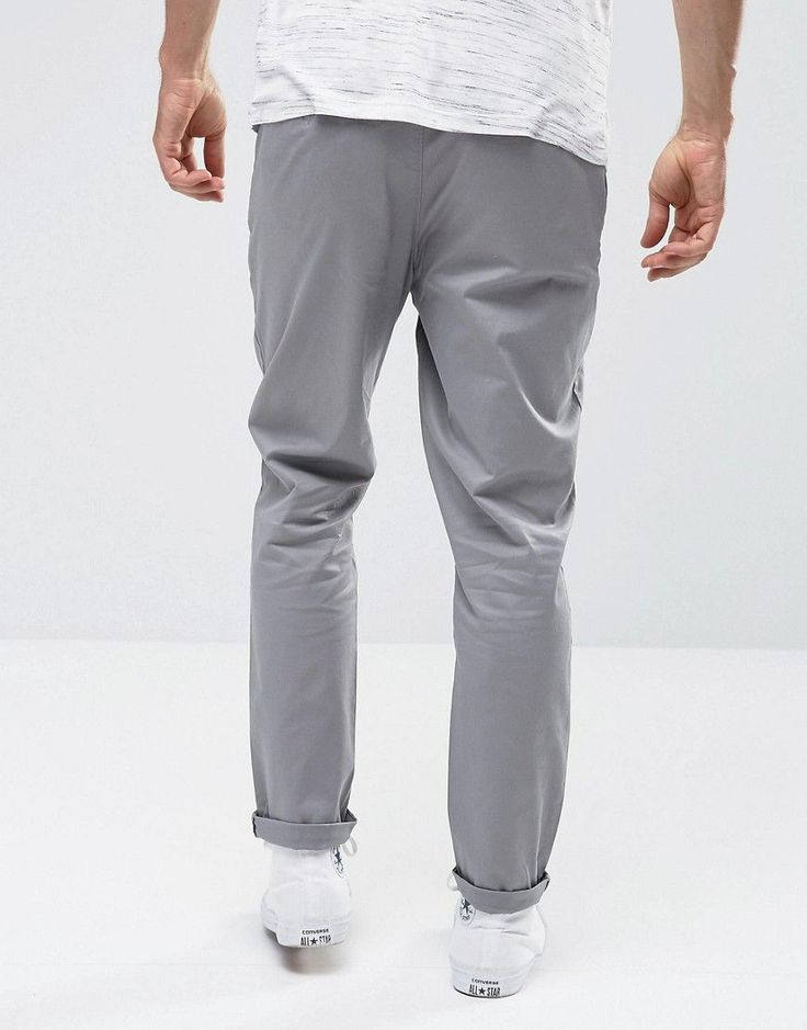 ASOS Tapered Chinos In Gray - Gray