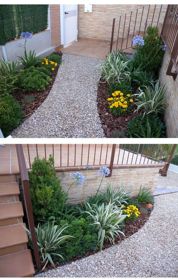16 best peque os jardines entradas jardineras images on for Jardines para espacios pequenos