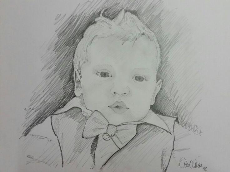 Buona vita al piccolo Diego! Ritratto by Annalisa Tombesi