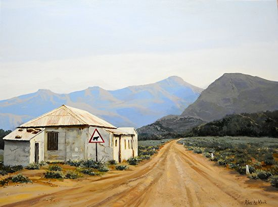 Great Karoo by Rika De Klerk Oil. BelAfrique your personal travel planner - www.BelAfrique.com
