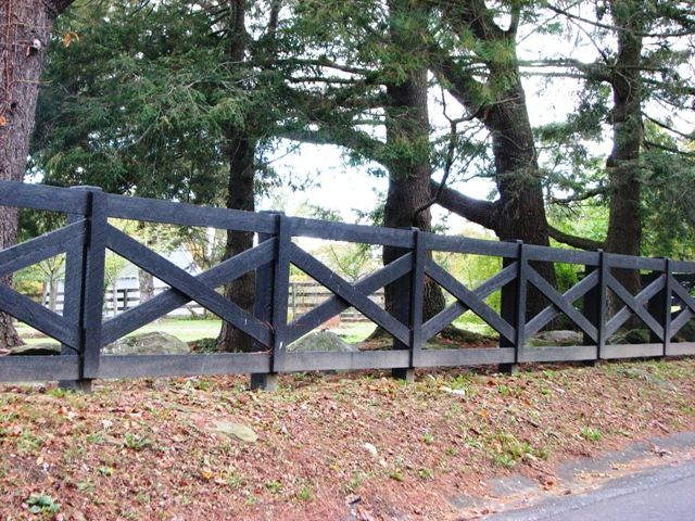 Black Cross-buck Horse Fencing