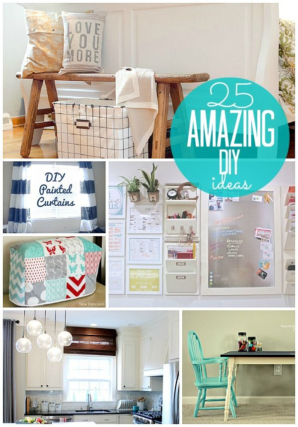 25 amazing diy ideas. Some really great ideas here!