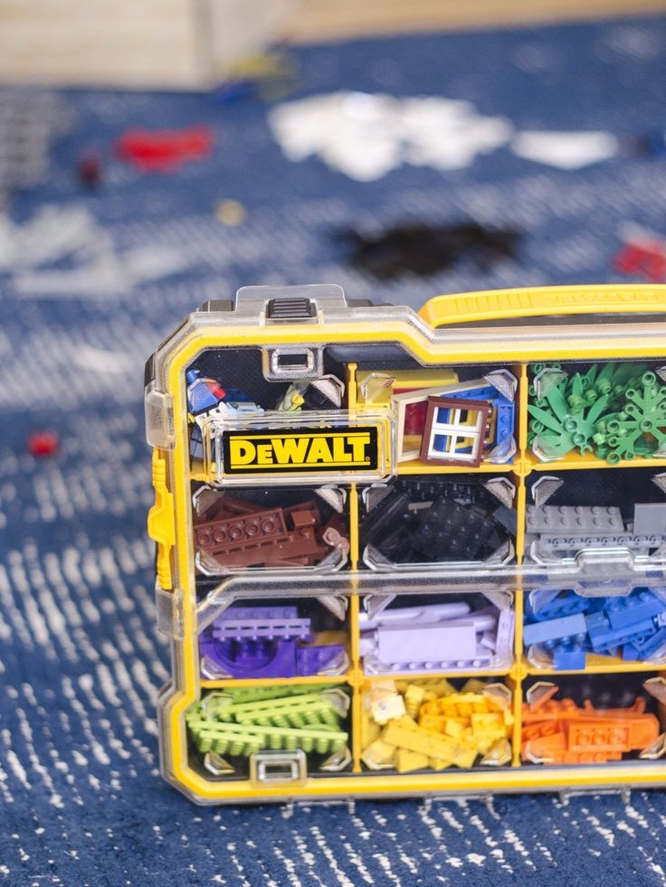 Not just for tools! The Dewalt Small Parts Organizer was basically built for Legos #thdprospective #sponsored