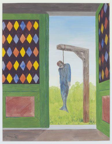 René Magritte - La canción de amor - (1946)