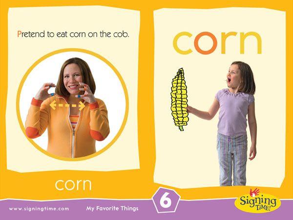 CORN: Pretend to eat corn on the cob!