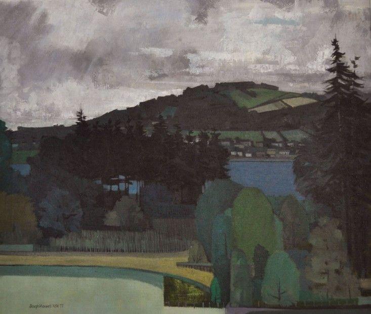 Joseph Maxwell The Clyde at Toward c.1978 oil | Scottish Contemporary Art