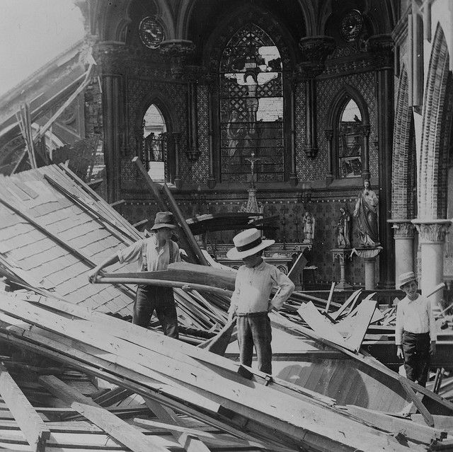 Galveston Hurricane Damage: interior St. Patrick's Church by M.H. Zahner, 1900 (LOC) | Flickr