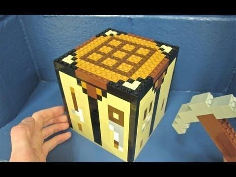 Lego Crafting Table Minecraft Msw Minecraft Crafting Lego Minecraft Crafts