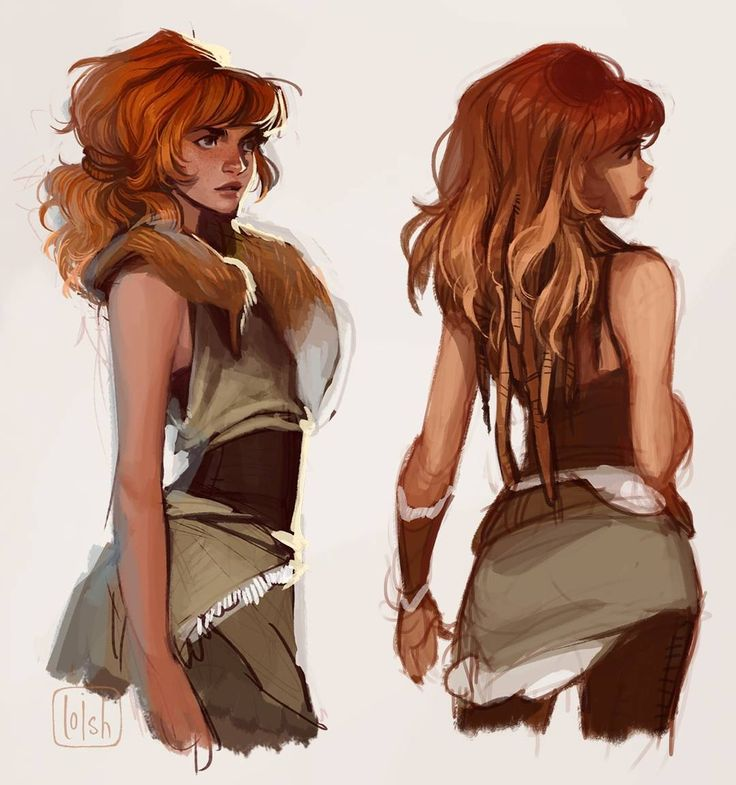 "17.1k Likes, 71 Comments - loish (@loisvb) on Instagram: ""More early concept art of Aloy, the lead character of Horizon: Zero Dawn. Drew this in 2013 - so…"""