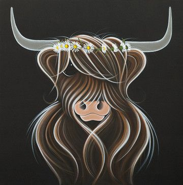 Daisy by Jennifer Hogwood, Edition of 95, Embellished Canvas, £495, 24 x 24 inches