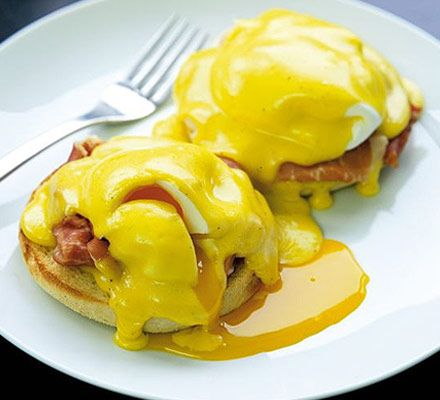 Gordon's eggs Benedict  Just made them this Sunday morning, but I did not boiled them that much as my family prefers a runny yolk.