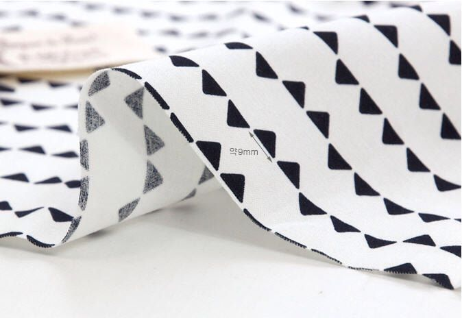 Black and White Mini Triangles Cotton Fabric - By the Yard - Geometric By the Yard 42683 by landofoh on Etsy https://www.etsy.com/listing/164008221/black-and-white-mini-triangles-cotton