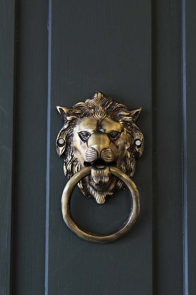 UK/_ Lion Head Vintage Antique Drawer Door Cabinet Pull Ring Knobs Handles Clever