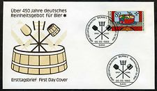 FDC BRD aus 1983 Mi-Nr. 1179: Über 450 Jahre deutsches Reinheitsgebot für Bier