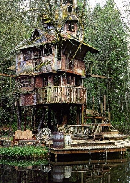 11 best epic tree houses images on pinterest | treehouses, awesome