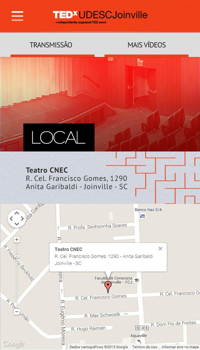LOCAL: Informações de mapa do local do evento.