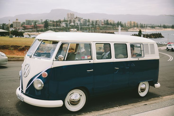 Cute Kombi for a Wollongong wedding. Wedding cars by Kombi Day Out. Image: Cavanagh Photography http://cavanaghphotography.com.au