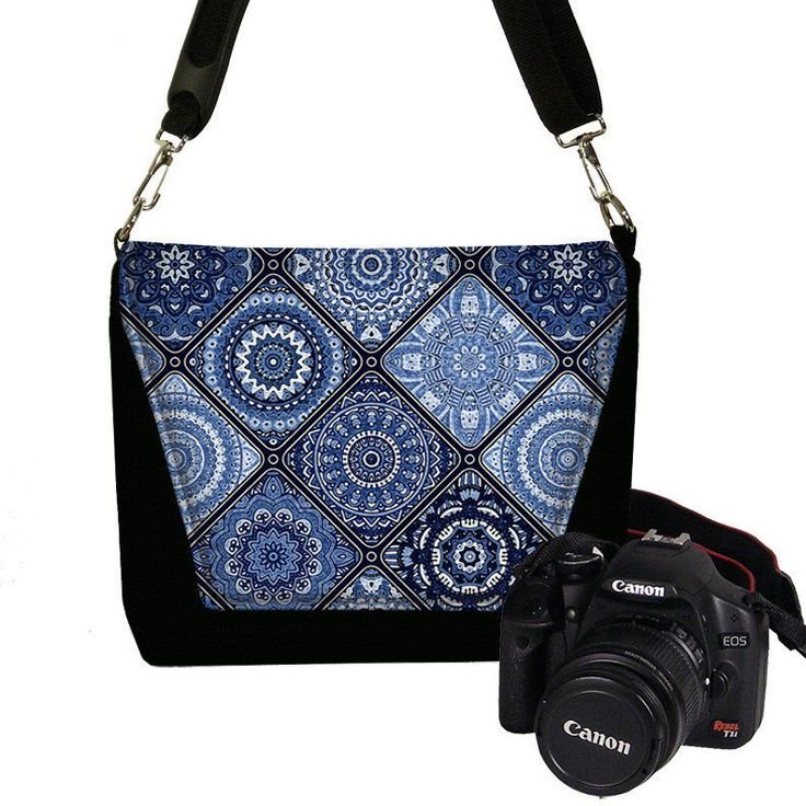 Camera Case DSLR Camera Bag Purse Nikon Camera Bag Canon Boho Indigo Blue