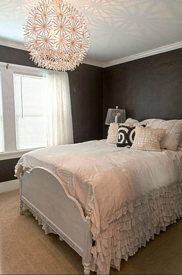 Ikea Flower Light Brown Bedroom Walls