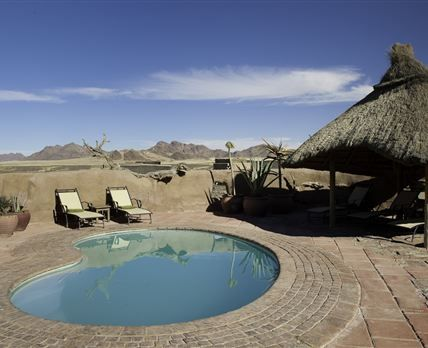 Kulala Desert Lodge is situated within the arid Namib Desert on the private Kulala Wilderness Reserve, providing convenient private access to the iconic red dunes of Sossusvlei. Big Daddy etc.