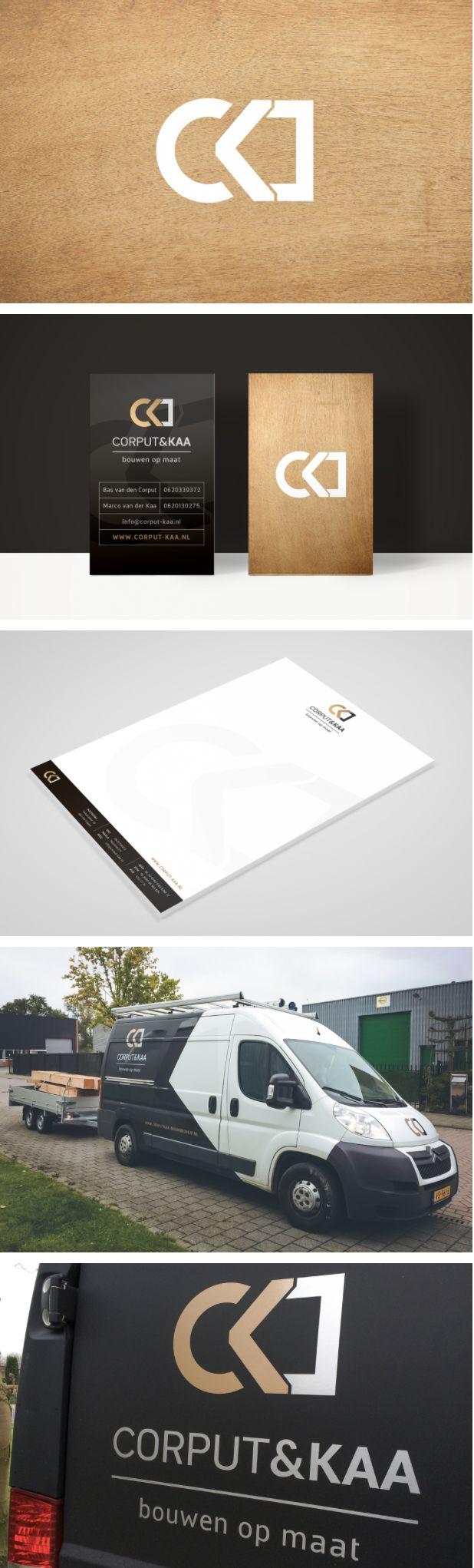 Ontwerp logo en huisstijl voor Corput&Kaa, dynamisch duo in de bouw #busbelettering - door Juli Ontwerpburo