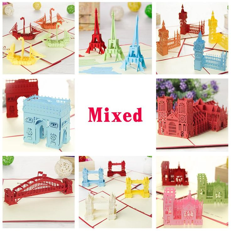 Aliexpress buy kirigami 3d pop up card amazing building aliexpress buy kirigami 3d pop up card amazing building handmade holi greeting cards 8pcsset combination sale free shipping from reliable ca stopboris Images