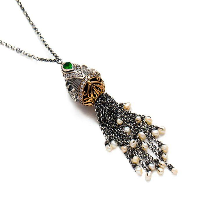 Theia Turkish Silver Tassel Necklace & Turkish Wholesale Silver Jewelry #wholesale #turkish #silver #tassel #necklace #jewelry #women #fashion https://www.facebook.com/TheiaSilverJewelry